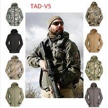 Высокое качество латент 16 Акула кожа мягкая оболочка куртка; TAD V 5 Военная Тактическая армейская bomberjacke ветрозащитная водонепроницаемая одежда