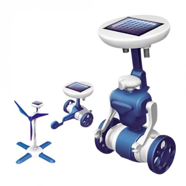 2016 hot solar robot toys boys robot kit creative kids toys children solar toy christmas gifts