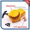Liga de alumínio Pull Starter Parafuso Parafusos & L7T Spark Plug & Filtro de combustível Para 47cc 49cc Mini Quad ATV Bicicleta do Bolso Sujeira