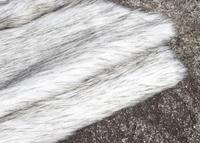 סיטונאי לבן פרווה בעלי חיים קטיפה צמר צביעת תהליך מעיל קוספליי בגדי ביצועים דקורטיביים בד בדי פוליאסטר B341