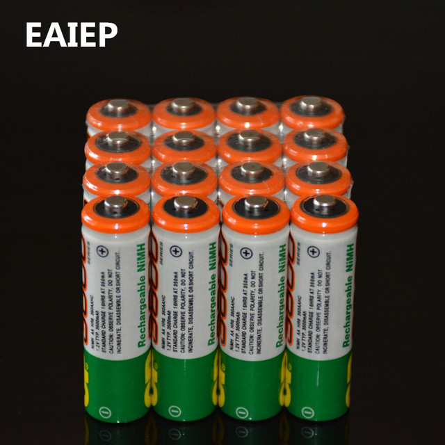 EAIEP 16PCS Lot Wholesale For GP AA 12 V Ni MH 1000mAh Rechargeable