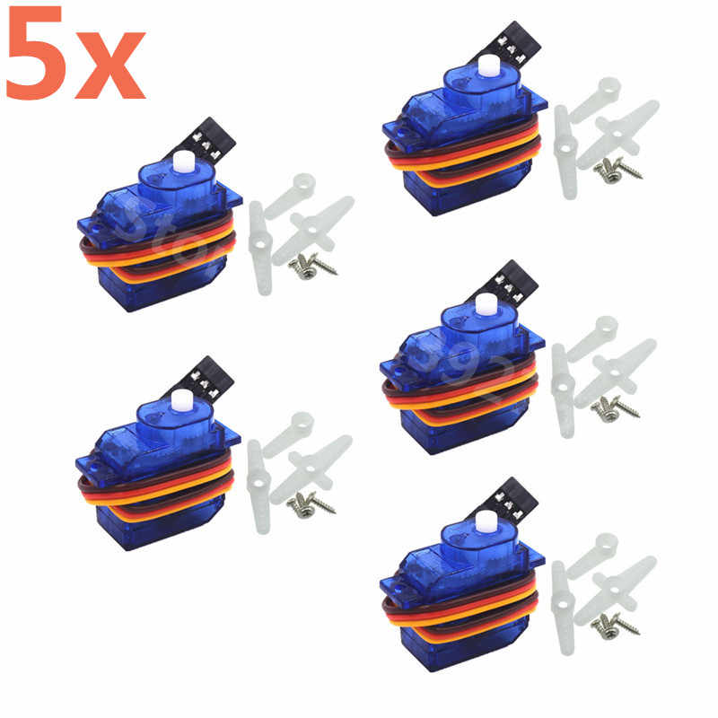 5pcs 5g SG-50 Micro Digital Servo With Plastic Gear SG50 For RC Car RC Airplane RC Helicopter RC Aeromodelling Boat