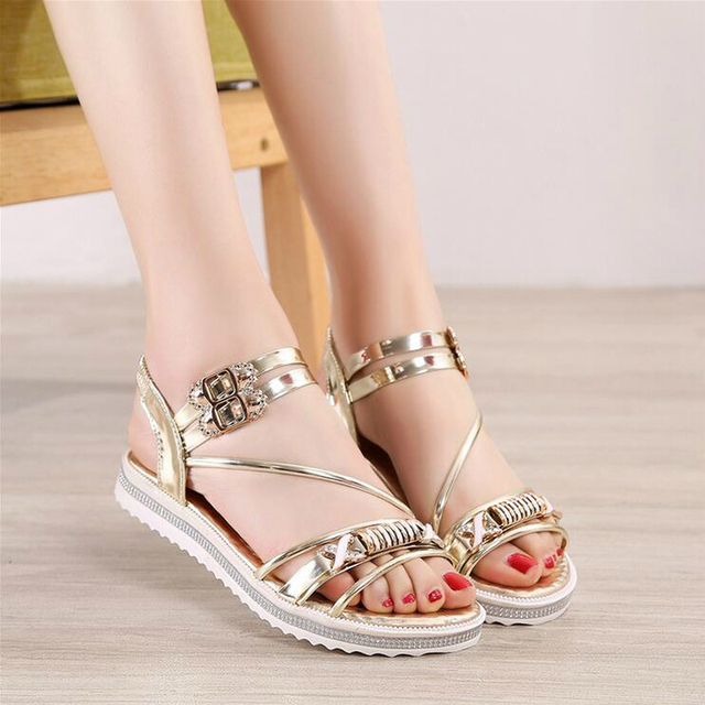 61fee306ea372 New Women Flat Sandals 2017 Fashion Women Summer Shoes Wedge Sandals Ladies  Shoes woman Brand Sandalias Chaussure Femme ZY0209