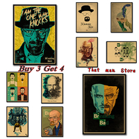 Vintage EUA película póster pared pintura retro Kraft papel póster breaking Bad película dibujo pared pegatina hogar Decoración 42*30 cm