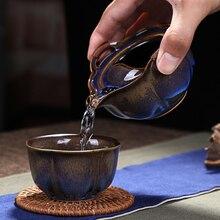 [GROßARTIGKEIT] kung fu tee-set enthalten 1 topf 1 tasse Gaiwan Juni brennofen Celadon Kung Fu Teetasse & Teekanne Set Junyao Keramik teekanne