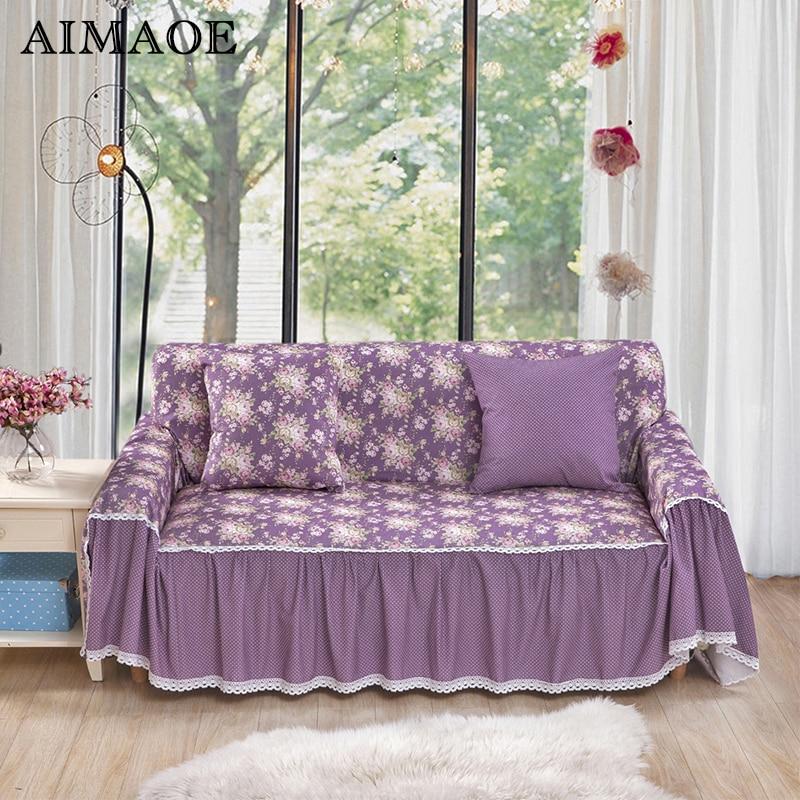 2016 Casual Pastoral Blending Sofa Cover Cornor Floral