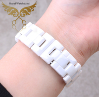 7 5mm 6mm Available New High Quality White Diamond Ceramic Watch Band Bracelet Fit J12 Men