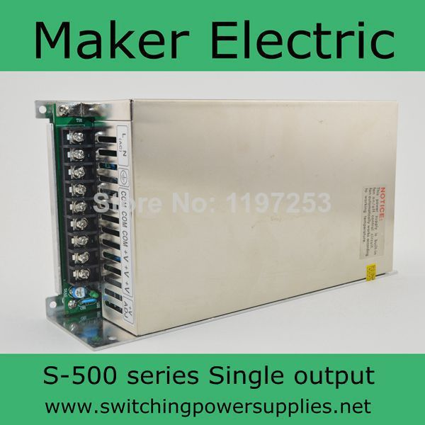 high quality switching power supply  for LED SMPS AC to DC 12v 40A 500w S-500-12 40A nes series 12v 35w ul certificated switching power supply 85 264v ac to 12v dc
