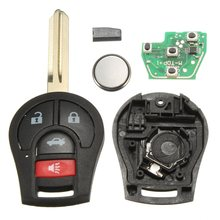 4 Кнопка Uncut Автозапуск дистанционного брелока чипа 46 для Nissan CWTWB1U751