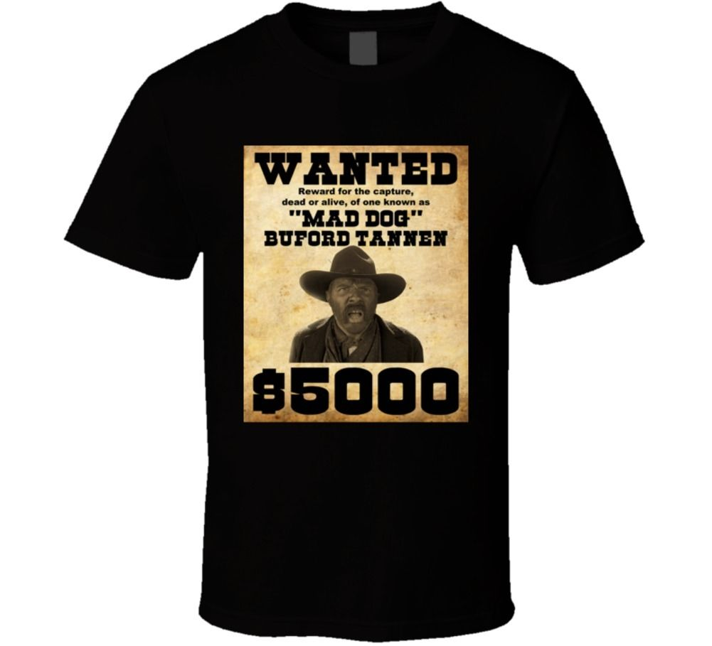 Gildan Buford Mad Dog Tannen Back to the Future Funny Movie T Shirt