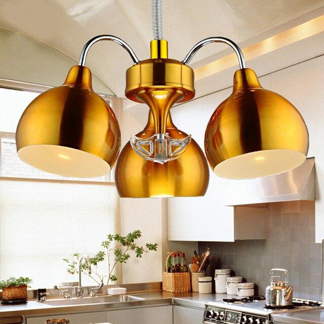 Modernas luces colgantes de plata/oro color de Cocina Comedor ...