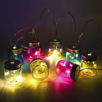 String Light Battery Operated Mason Jar LED String Light Outdoor Garden Tree Yard Street Decoration Romantic Home Night Lamp