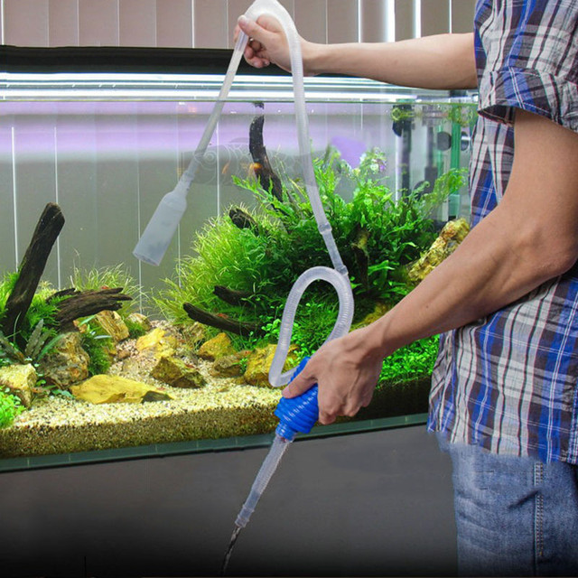 140cm aquarium cleaner tool siphon gravel suction pipe for Above water fish tank