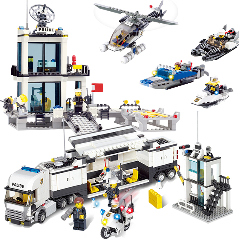 ACG Figures Action Police Model Building Blocks Toys Sets Compatible Legos City Police Office Bricks Toy For Boys Birthday Gift 407pcs sets city police station building blocks bricks educational boys diy toys birthday brinquedos christmas gift toy