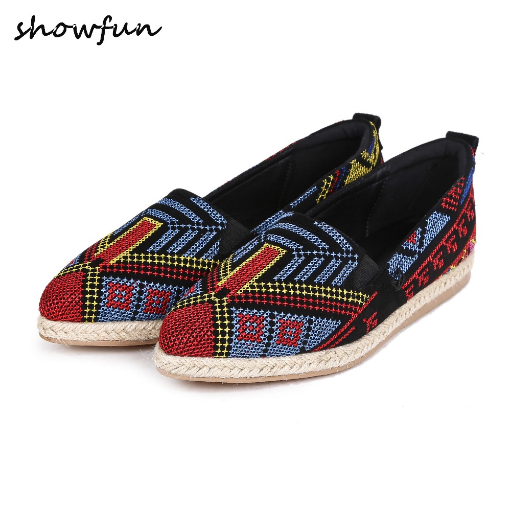 Women's Lattice Embroidery Genuine Suede Leather Slip-on Flats Brand Design Leisure Espadrilles Loafers Pointed Toe Shoes Women women s genuine leather slip on loafers brand designer flats moccasins leisure espadrilles antiskid comfortable shoes for women