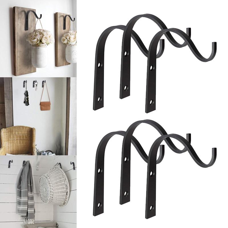 10pcs/20Pcs crochet  Iron Hanger Wall Hooks for Hanging Lantern Planter Coat Rustic Home Decor|Hooks & Rails| |  - title=
