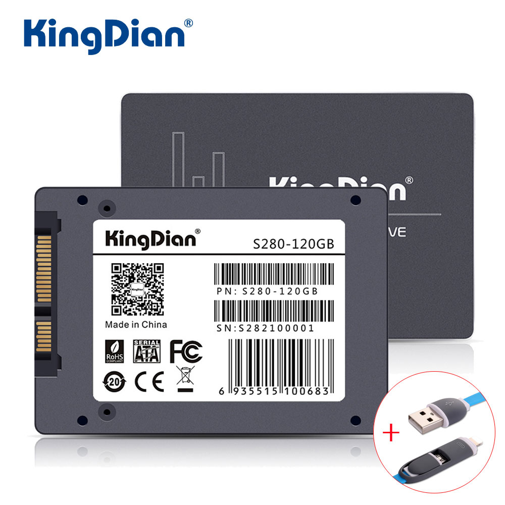 KingDian SSD 120GB S280 3 Years Warranty SATA3 2.5 inch Hard Drive Disk 120GB HD HDD Factory Directly Quality Assurance купить недорого в Москве