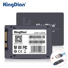 KingDian SSD 120 ГБ S280 3 года гарантии SATA3 2.5 дюймов жесткий диск 120 ГБ HD HDD напрямую с фабрики гарантия качества