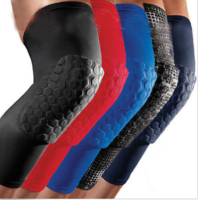 New Honeycomb Pad Crashproof Anti-slip Arm Hand Leg Knee Elbow Long Sleeve Protector Gear Solid Color