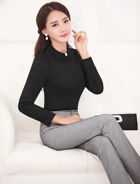 Formelle Uniform Style Business Women Arbeitsanzuge Tops Und Hosen