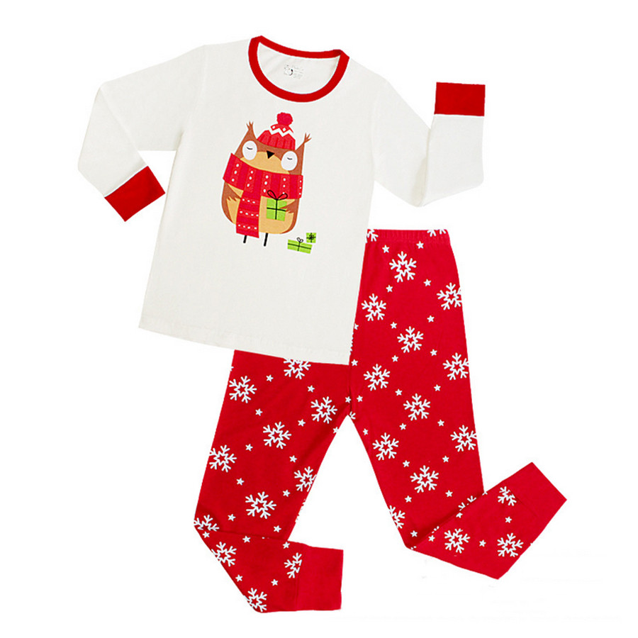 1cbc0241c59b Snowflake Cute Cartoon Baby Boys Girls Pijama Children Christmas ...