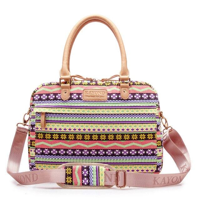 986d40e4ccb1 KAYOND Canvas Yellow Snowflake Print Women Shoulder Bag Multiuse Laptop  Sleeve Bag Messenger With Shoulder Belt 13 14 15 inch