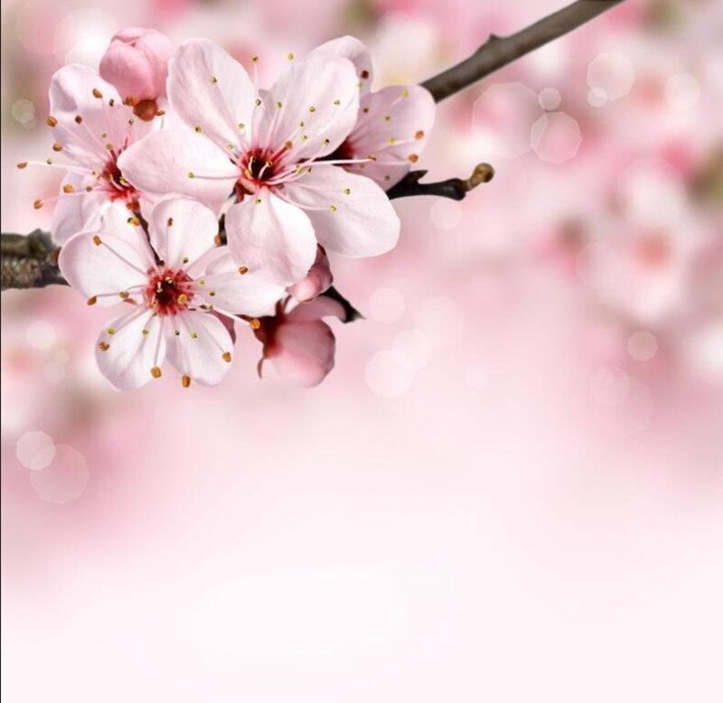 Us 14 79 49 Off Closeup Flowering Trees Sakura Flowers Wallpapers Living Room Sofa Tv Wall Bedroom 3d Murals Wallpaper Nature Papel De Parede In