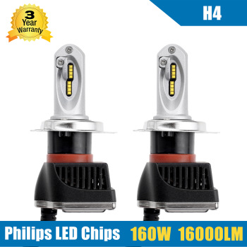 2016 New 2x 160W 16000LM H4 9003 HB2 LED Headlight Kit High/Low Beam Bulbs Lamp 5700-6000K Auto Truck Replace Led Conversion Kit