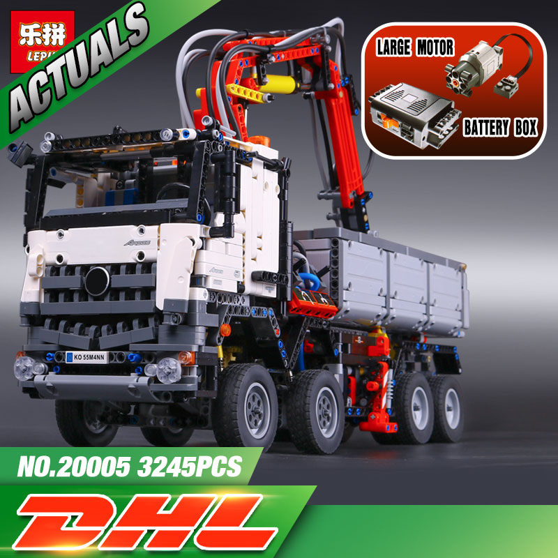 2793pcs NEW LEPIN 20005 technic series 42023 Arocs Model Building Block Bricks Compatible with Boys Toy Gift lepin 20005 2793pcs technic series model building block bricks compatible with boys toy gift compatible legoed 42023