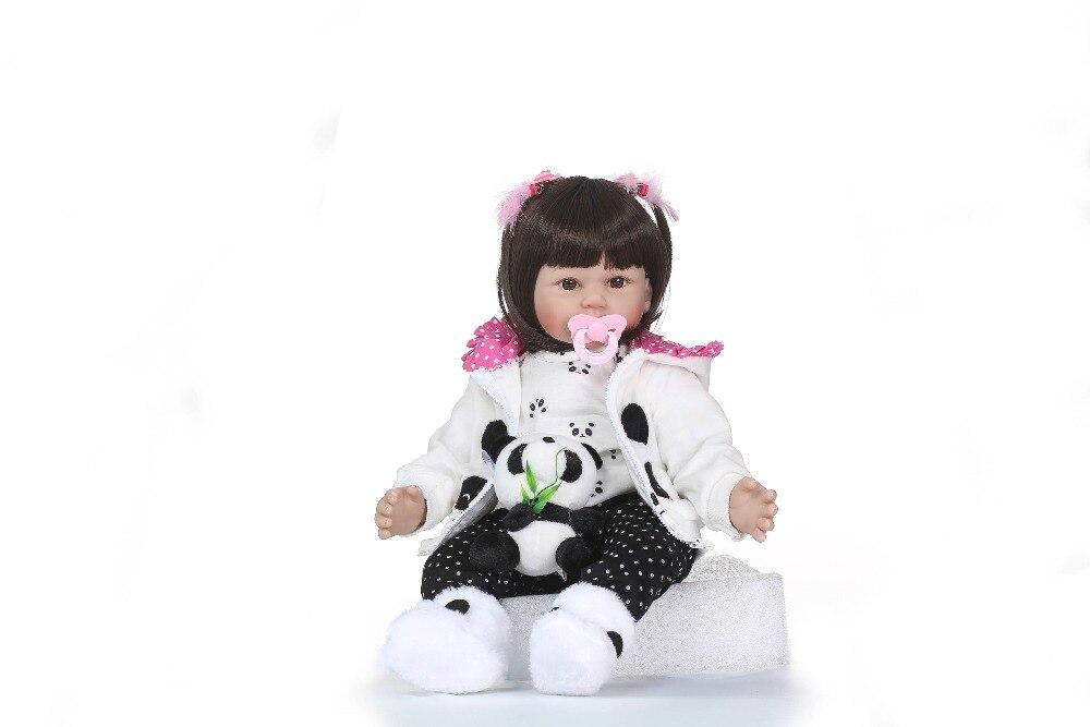 NPKCOLLECTION miękkie silikonowe Reborn lalki Baby realistyczne lalki Reborn 22 Cal silikonowe winylu Boneca BeBes Reborn lalki dla dziewczynek w Lalki od Zabawki i hobby na  Grupa 2