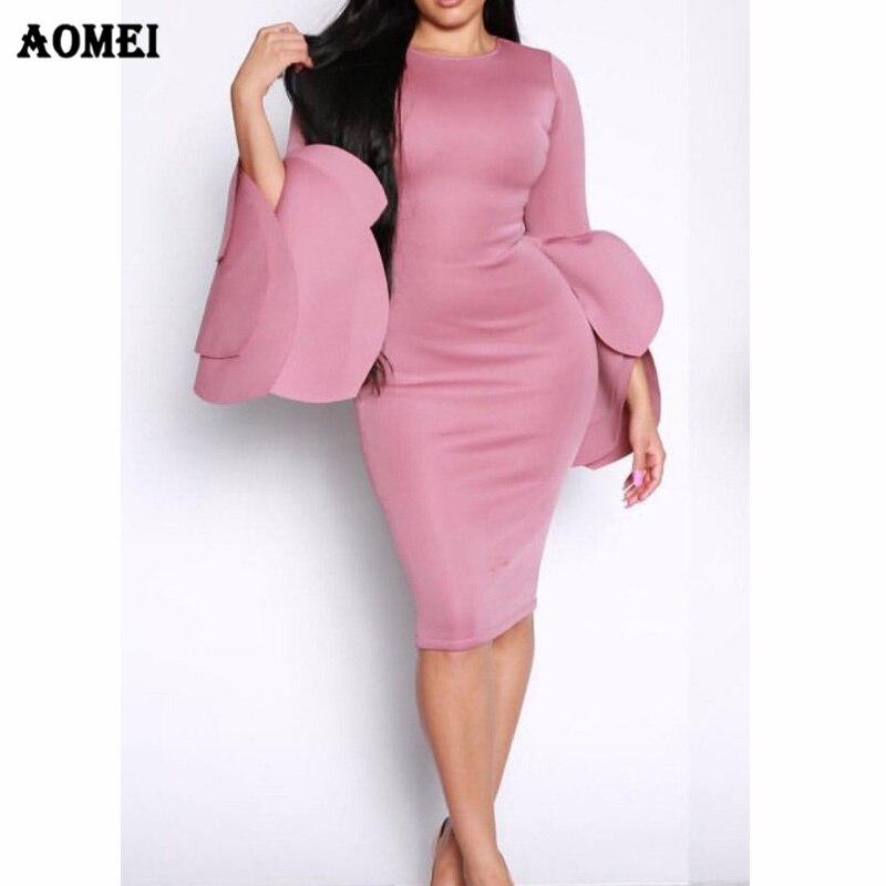725f9fd0f09ca9 Bodycon Dress Party Wear Classy Women Evening Clubwear Slim Sexy Tight  Vestido Pink White Purple Femme Autumn Dresses Clothing-in Dresses from  Women s ...