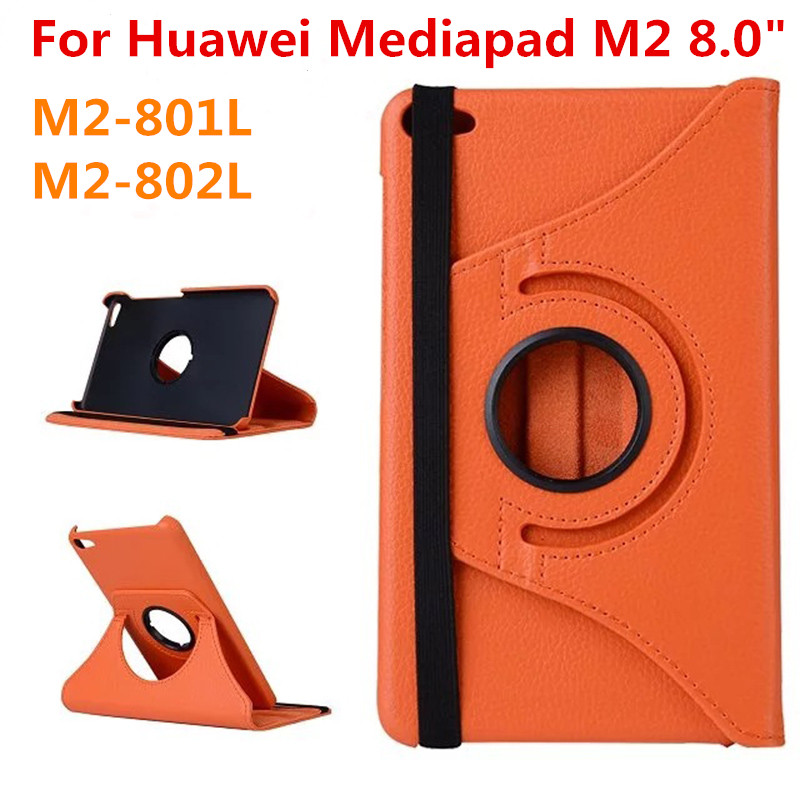 For Huawei MediaPad M2 8.0 inch M2-801L M2-802L 8 801L 802L Tablet Case 360 Bracket Flip Leather Cover for huawei mediapad m3 lite 8 0 inch cpn al00 m3lite tablet case 360 rotating bracket flip stand leather cover