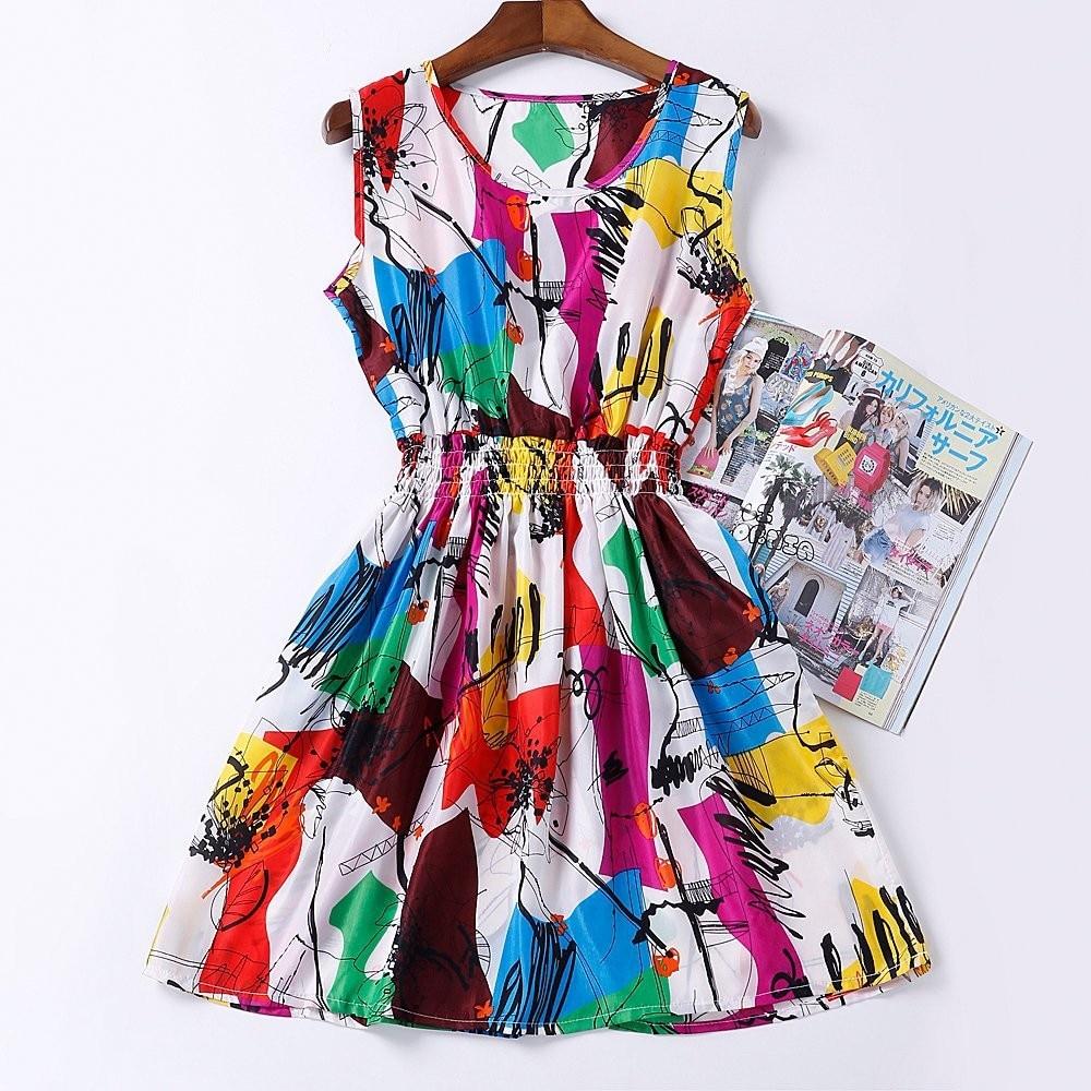 HTB16GP HFXXXXbnXpXXq6xXFXXX2 - Summer Women Dress Vestidos Print Casual Low Price