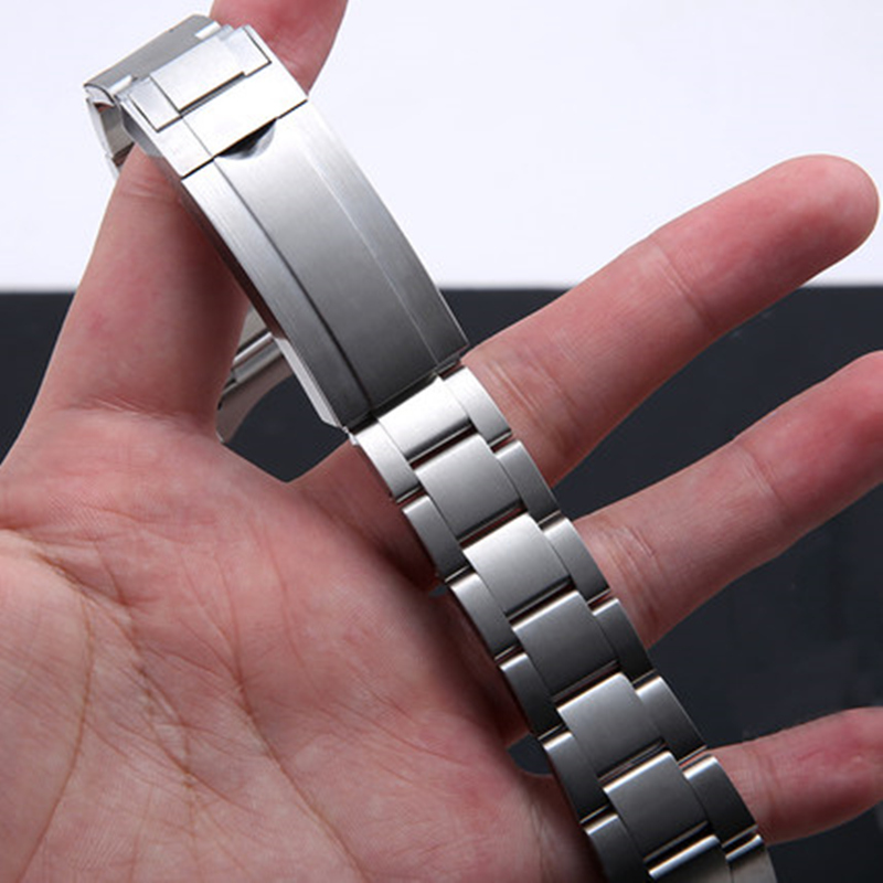 Image 5 - Brands 20mm Brushed Polish Silver Stainless steel Watch Bands Strap For RX Daytona Submarine Role Sub mariner Wristband Bracelet-in Watchbands from Watches
