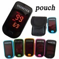 +Pouch LED Display Fingertip Pulse Oximeter Blood Oxygen SpO2 monitor saturation oximetro monitor 5 color available