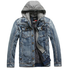 2018 Mens Warm Jeans Jacket False Two Pieces Thicken Denim Coat Casual Hip Pop Men Jeans Jackets Cowboy Clothing M-3XL