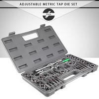 40pcs Adjustable Metric Tap Die Herramientas High Precision Ferramenta Wrench   Tool   Set Tap Metric Hole Thread Gauge Gereedschap