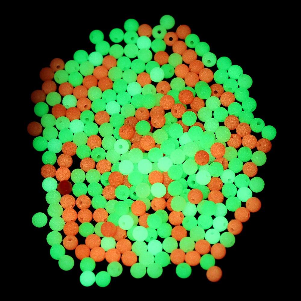4//5//6//8mm Sea Night Glowing Balls Stoppers Luminous Light Fishing Floats Beads