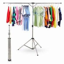 Portable Folding Drying Rack Stainless Steel Extendable Clothes Hanger Adjustable Height Socks Scarf Bra Hanger For Kitchen Room