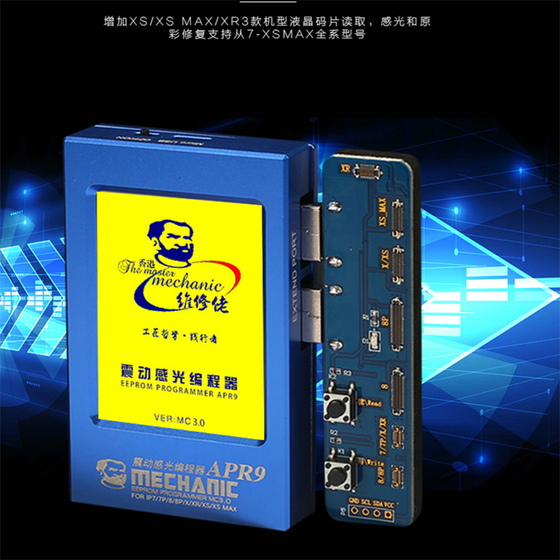 MECHANIC APR9 LCD EEPROM Photosensitive Vibration Sensitization Repairer Programme For IPHONE XS MAX XS XR X