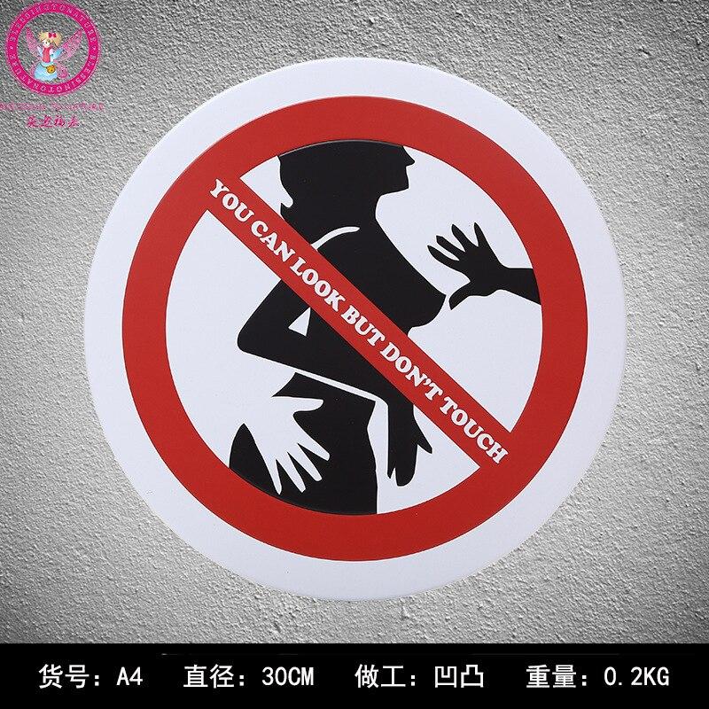 Вы можете посмотреть но не Touch 30 см предупредить знаки потертый шик Олово Вход Бар паб дома Кафе стены украшения Винтаж металла plaque30 * 30 см