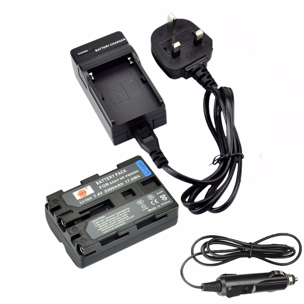DSTE NP-FM500H Аккумулятор + Путешествия и Автомобильное Зарядное Устройство Для Sony A99 A200 A200K A200W A300 A300K A300X A350 A350H A350X камера