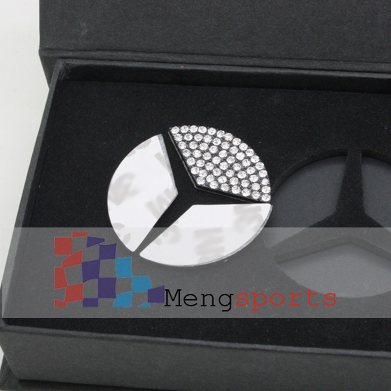 10set 52mm Crystal Diamond Steering Wheel Center Sticker Car Styling Emblem with BOX Shipping Free
