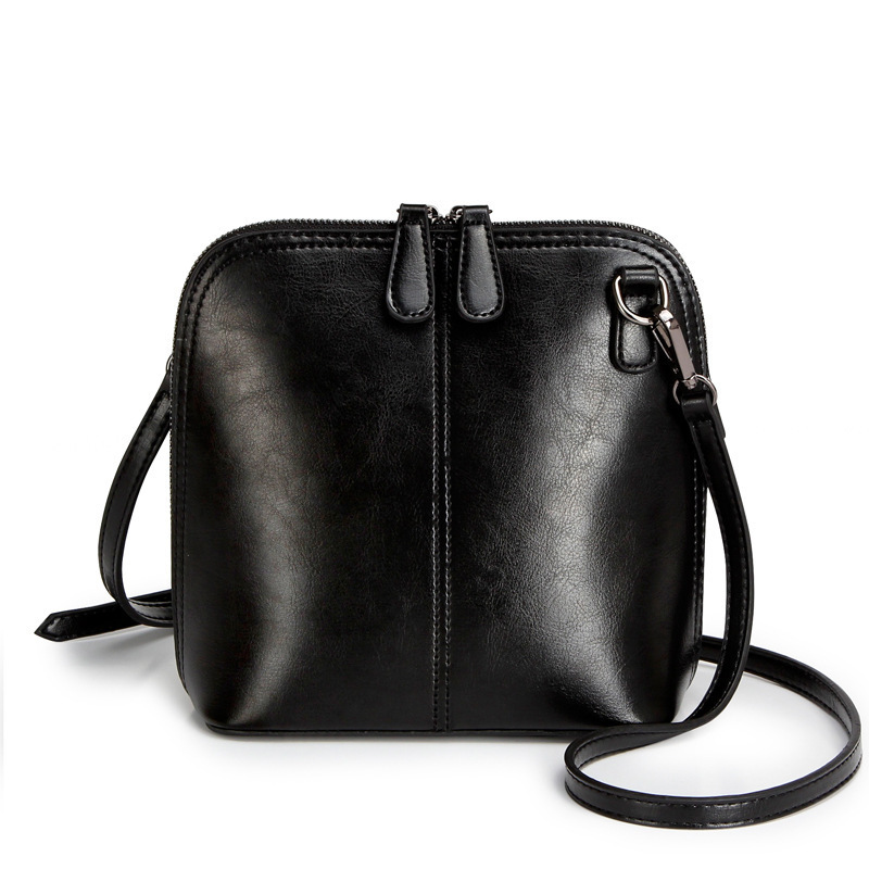 New 100% Genuine Leather Small Bag Famous Brands Women's Cross-body Messenger Ba