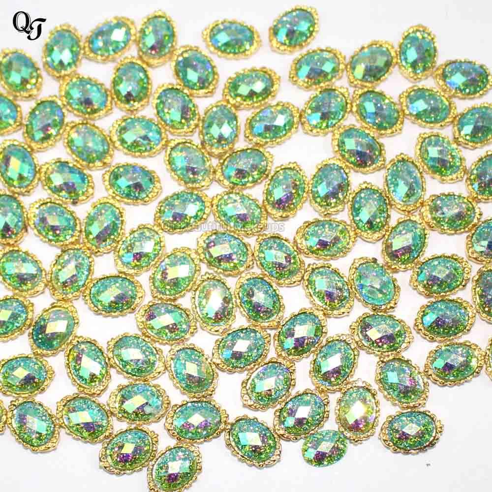 Красивый зеленый драгоценный камень дизайн ногтей искусство блестки горный хрусталь 3d блестящие, для дизайна ногтей аксессуары Высокое качество S8
