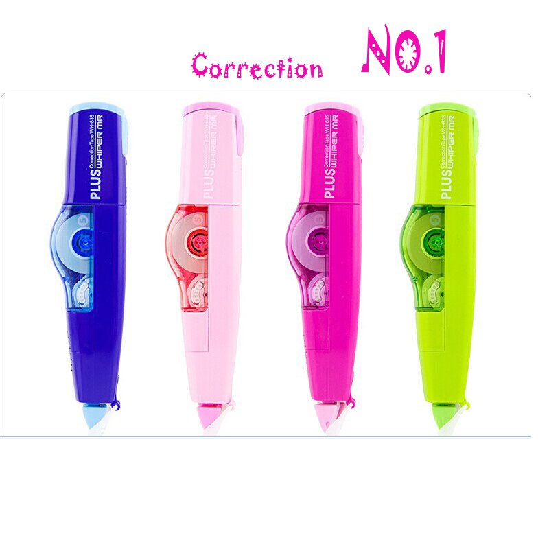 New Best Quality Eco-Friendly Stationery Novelty Refillable Correction Tape Japan Plus Whiper Correction School & Office Supply