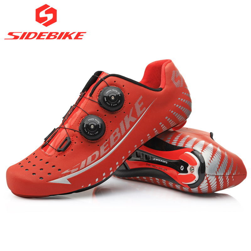 Sidebike 3M Reflectiv Carbon Ultralight Cycling Shoes self-Locking Racing Bike Shoes Road Bike Athletic Riding Shoes Ciclismo sidebike cycling shoes carbon fiber racing road bike sneakers zapatillas ciclismo chaussure velo self locking fietsschoenen