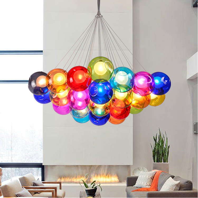ball bar Mediterranean Glass  new After the modern minimalist creative pendant light personality Art dining room color  ZCL 4pcs new for ball uff bes m18mg noc80b s04g