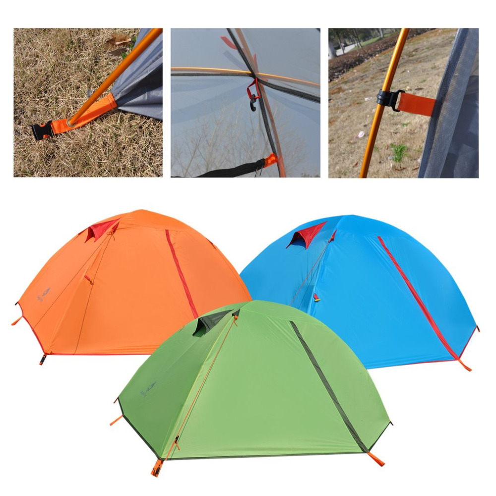 цена на Jungle King Double Layers 2 Person Windproof Waterproof Polyester Tent Breathable Outdoor Camping Hiking Fishing Beach Tent