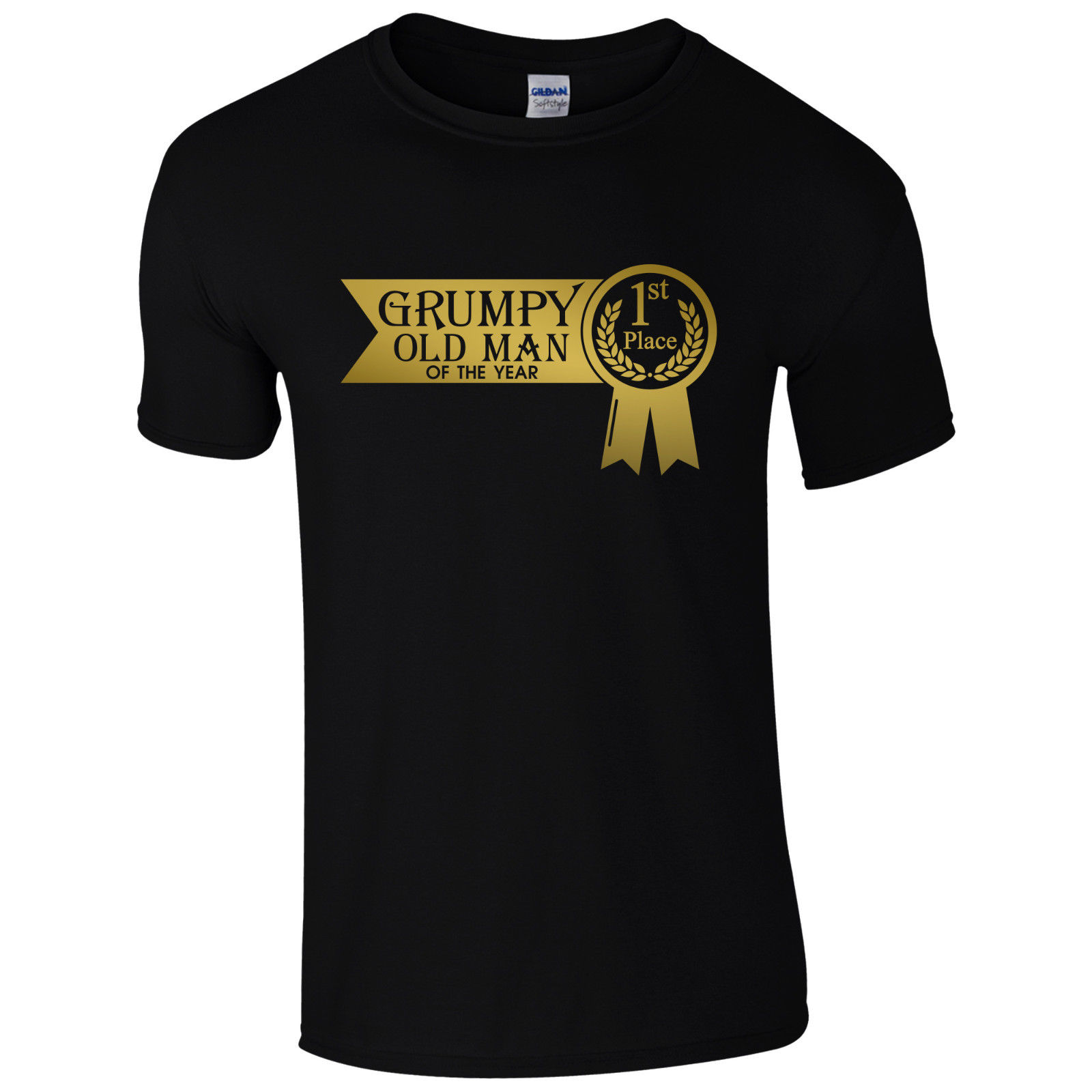 Grumpy Old Man Of The Year 1st Place T-Shirt - Fathers Day Gift Dads Present Top Men Summer Short Sleeves T Shirt